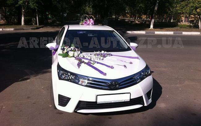 Аренда Toyota Corolla New на свадьбу Запорожье