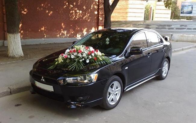 Аренда Mitsubishi Lancer X на свадьбу Запорожье