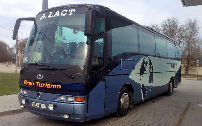 Аренда Автобус Mercedes 56 мест на свадьбу Запорожье
