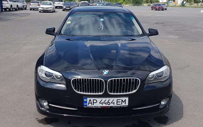 Аренда BMW 5 F10 на свадьбу Запорожье