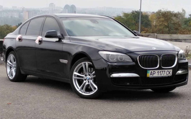 Аренда BMW 7 F01 на свадьбу Запорожье