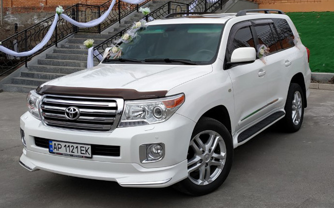 Аренда Toyota Land Cruiser 200 на свадьбу Запорожье