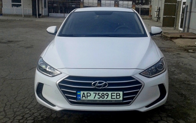 Аренда Hyundai Elantra New на свадьбу Запорожье
